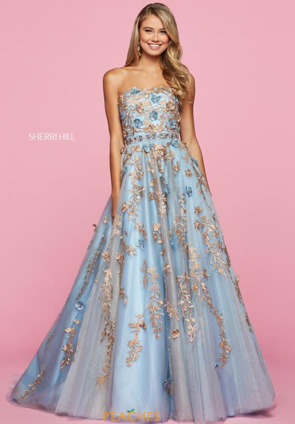 Sherri Hill Long A Line Dress 53589