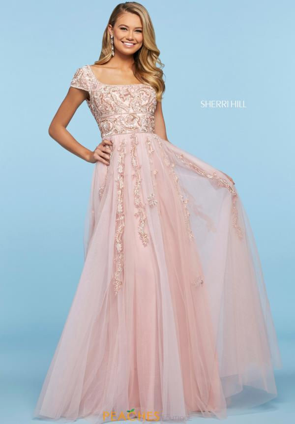 Sherri Hill Long A Line Dress 53623