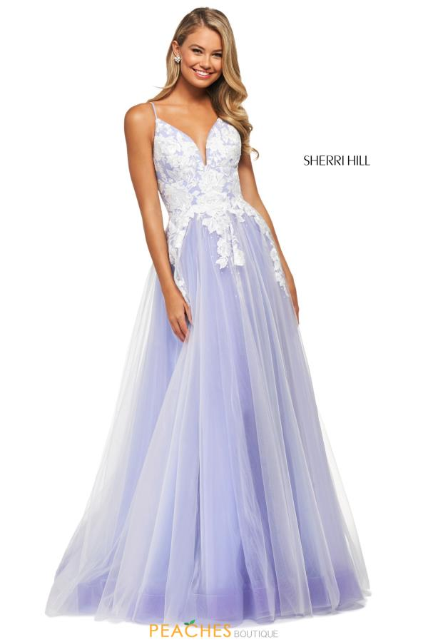 Sherri Hill Strapless A Line Dress 53730