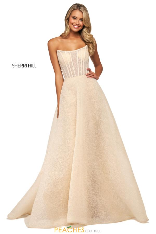 Sherri Hill Corset Strapless Dress 53731