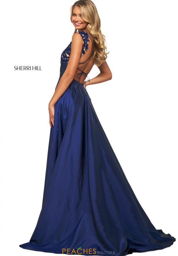 Sherri Hill V-Neck Beaded Dress 53767