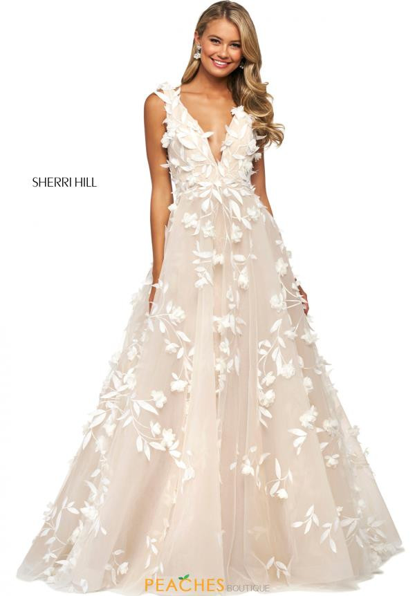 Sherri Hill V-Neck Tulle Dress 53770