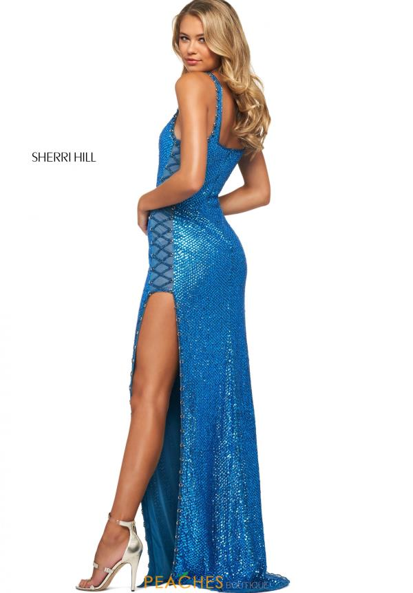 Sherri Hill Scoop Neckline Long Dress 53789