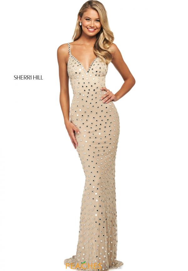 Sherri Hill Sexy Back Beaded Dress 53813