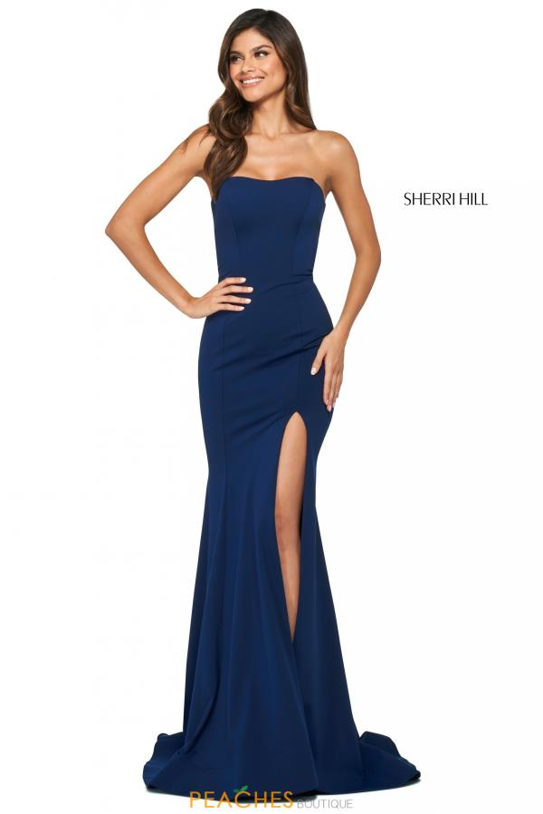 Sherri Hill Sexy Back Strapless Dress 53877