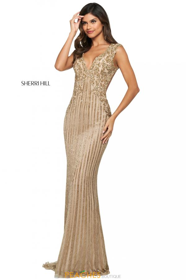 Sherri Hill Fully Beaded Long Dress 53915