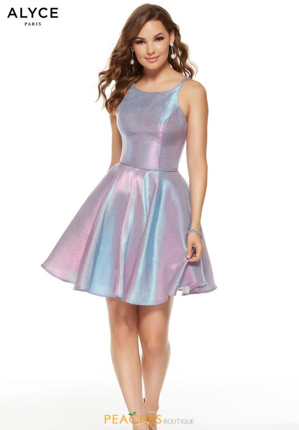 Alyce Paris Short A Line Dress 3923