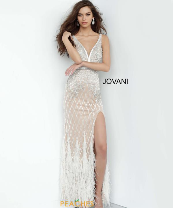Jovani Fitted Feather Dress 55796