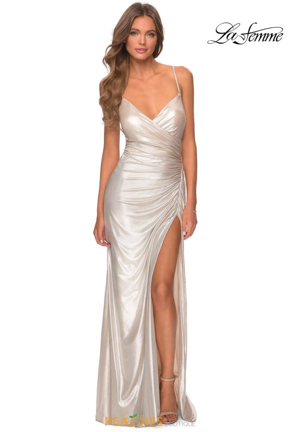 La Femme Long Jersey Dress 28449
