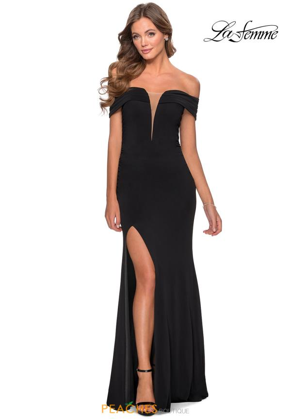 La Femme Cap Sleeve Fitted Dress 28132