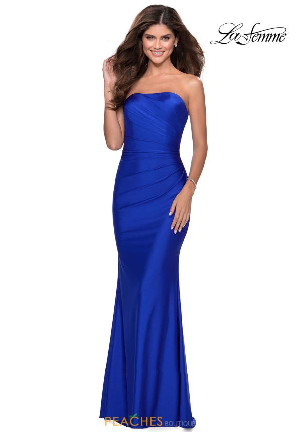 La Femme Strapless Fitted Dress 28269