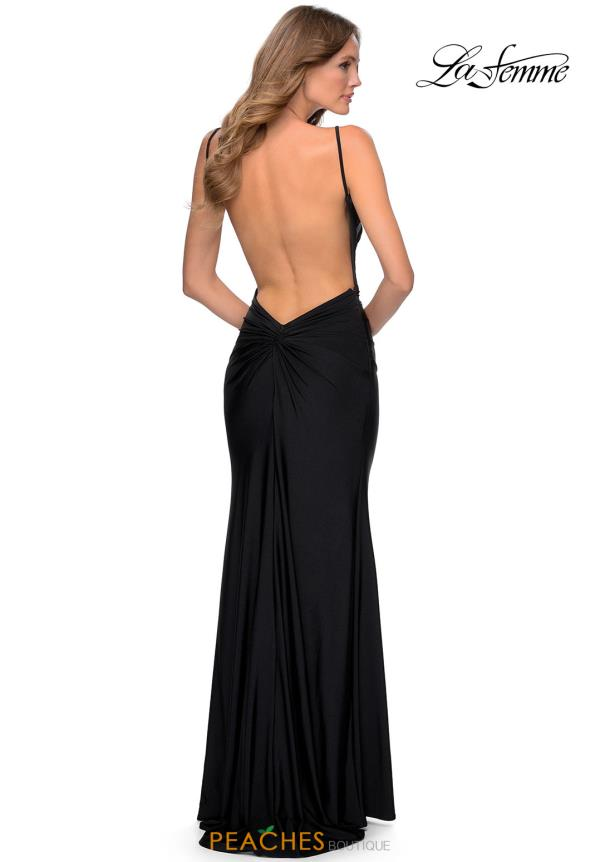 La Femme Fitted Jersey Dress 28287