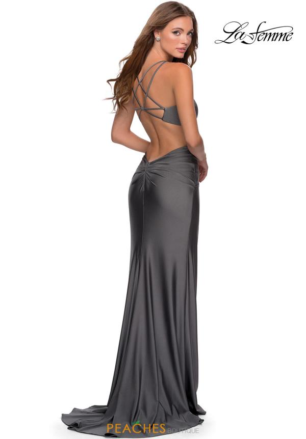 La Femme Fitted Jersey Dress 28289