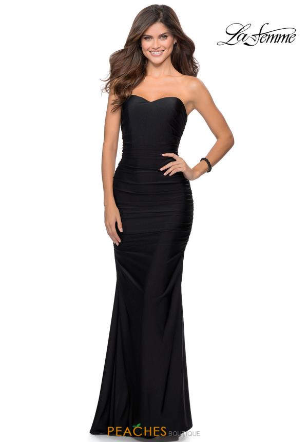La Femme Fitted Sweetheart Dress 28324
