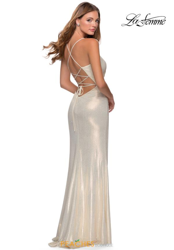 La Femme Fitted Jersey Dress 28363