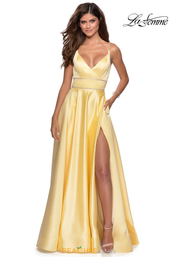 La Femme FItted A Line Dress 28385