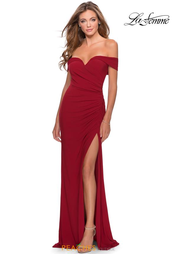 La Femme Fitted Cap Sleeve Dress 28389