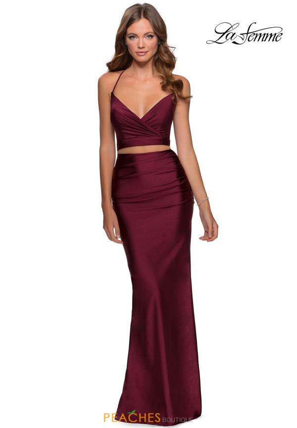 La Femme Fitted Two Piece Dress 28473
