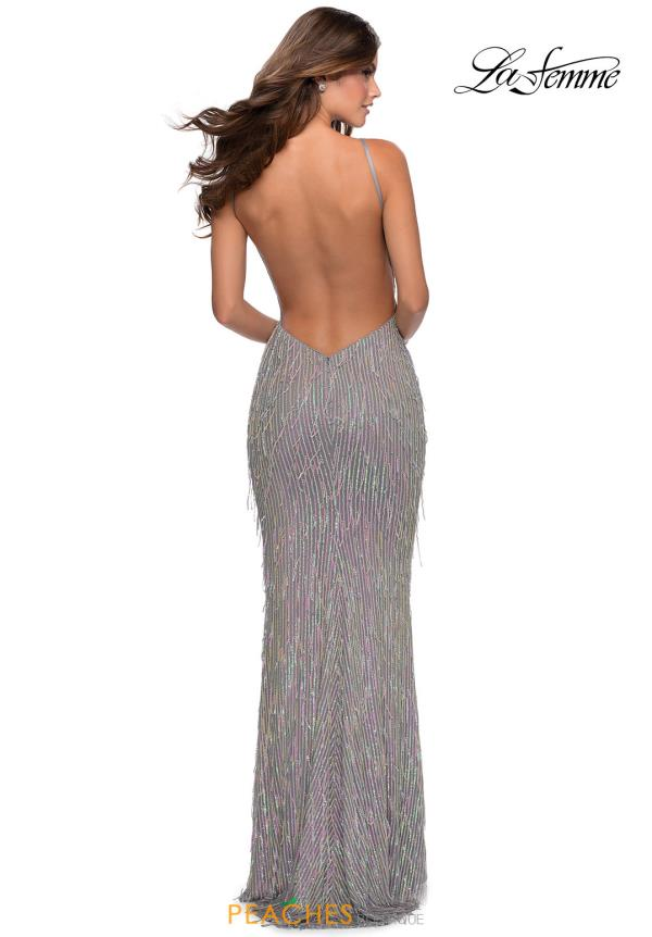 La Femme Sequin Fitted Dress 28517