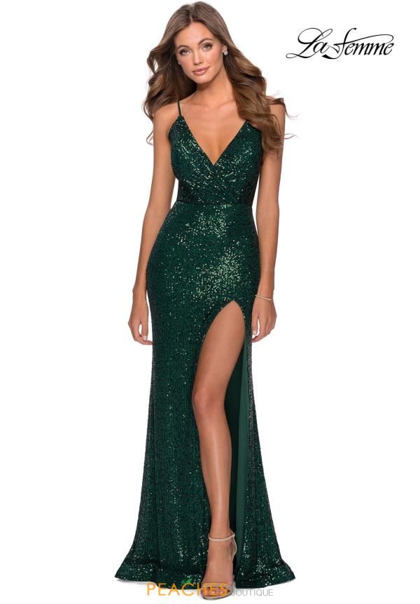 La Femme Beaded Sequin Dress 28539