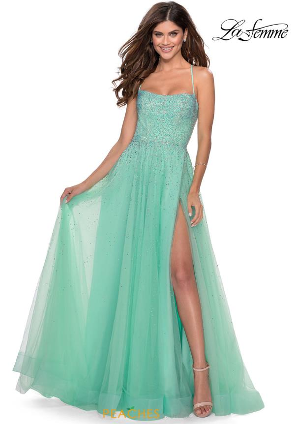La Femme Scoop A Line Dress 28583