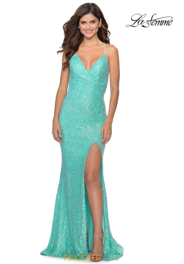 La Femme Beaded Lace Dress 28632