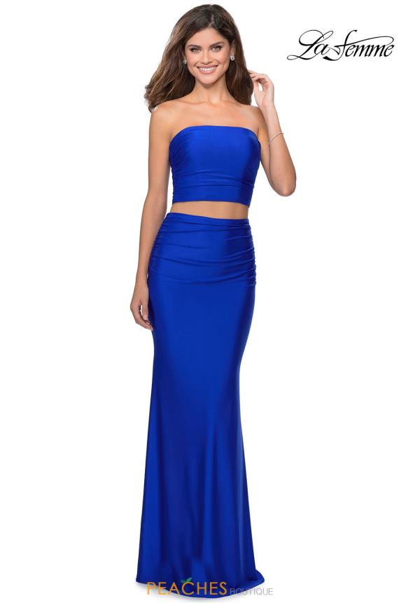 La Femme Two Piece Fitted Dress 28703