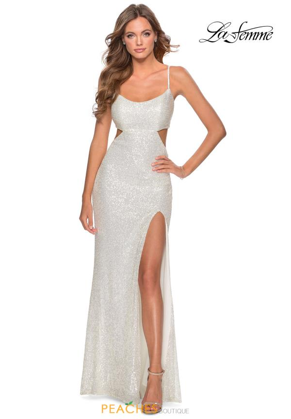La Femme Long Beaded Dress 28765
