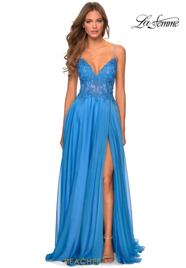 La Femme Beaded A Line Dress 28543