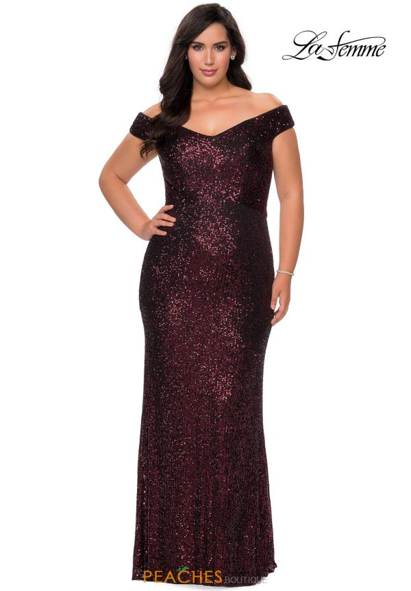 La Femme Cap Sleeve Fitted Dress 28795