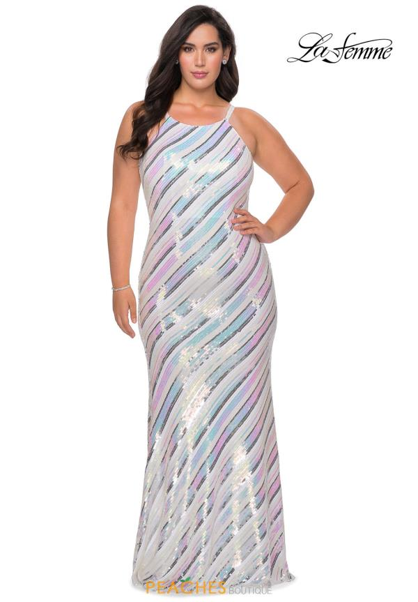 La Femme Fully Beaded Dress 28877