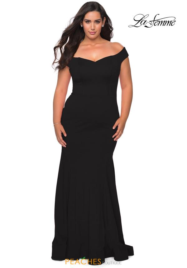 La Femme Cap Sleeve Fitted Dress 28963
