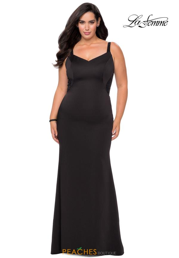 La Femme V-Neck Jersey Dress 28964