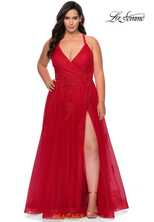 La Femme Long A Line Dress 29021