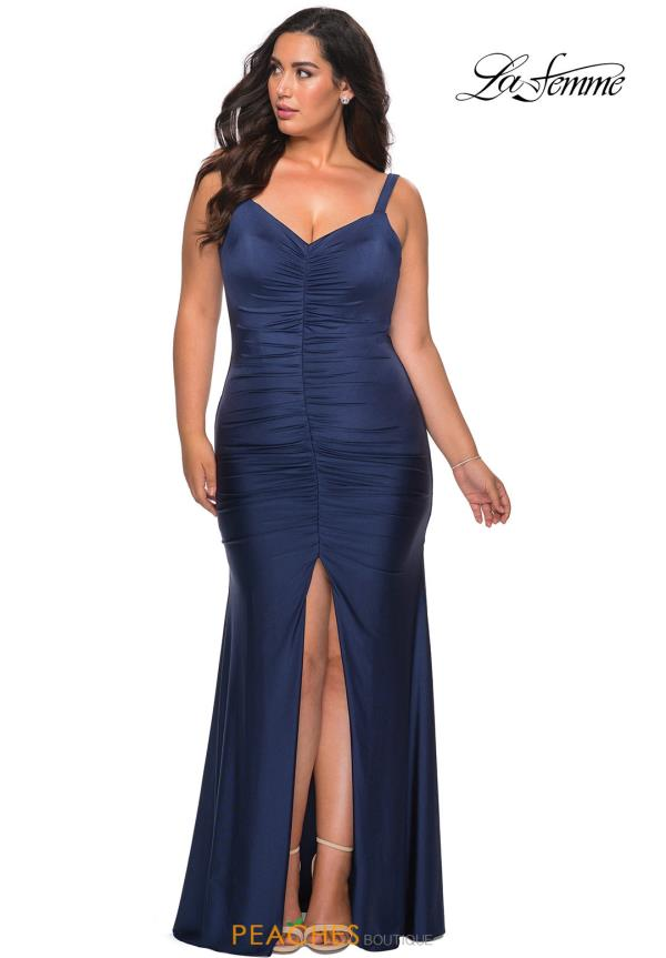 La Femme Jersey Fitted Dress 29027