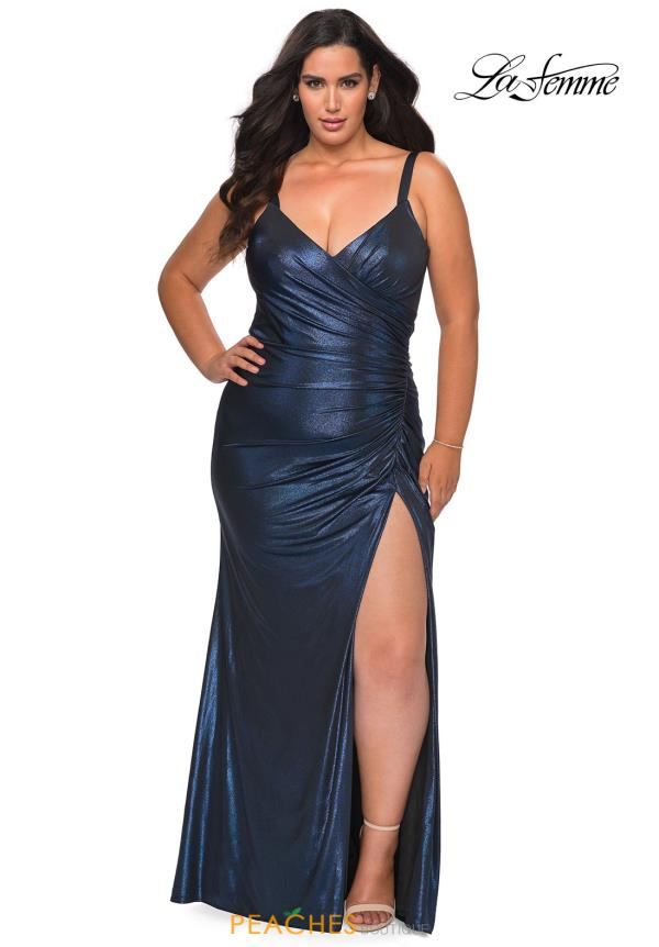 La Femme Fitted Jersey Dress 29053