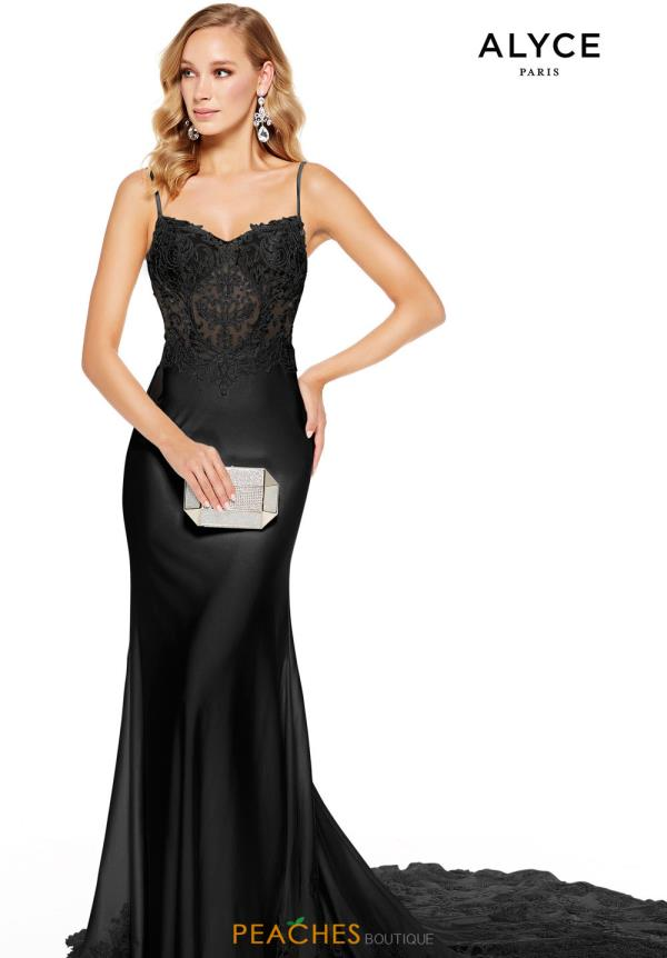Alyce Paris Long Fitted Dress 60762