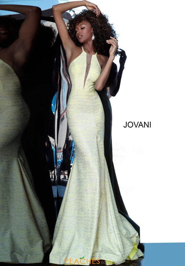 Jovani High Neckline Fitted Dress 67563