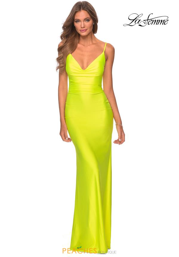 La Femme Neon Fitted Dress 29010