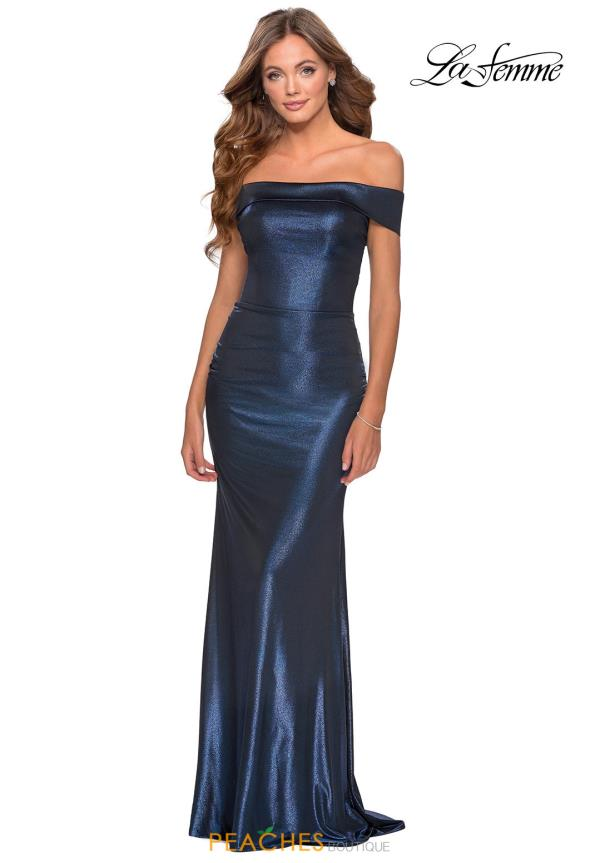 La Femme Jersey Fitted Dress 28740