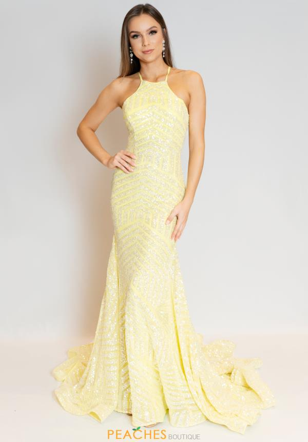 Jovani High Neckline Sequins Dress 4132