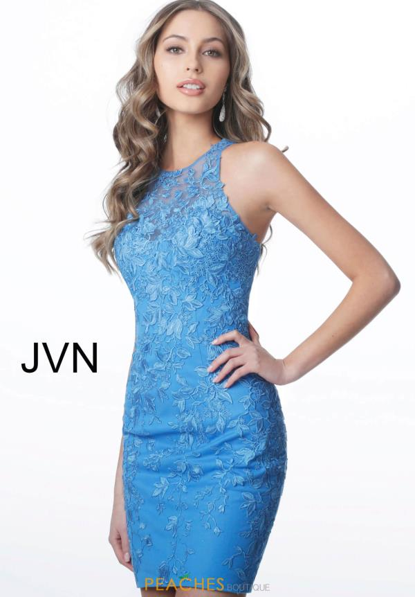 JVN by Jovani High Neckline Lace Dress JVN1290