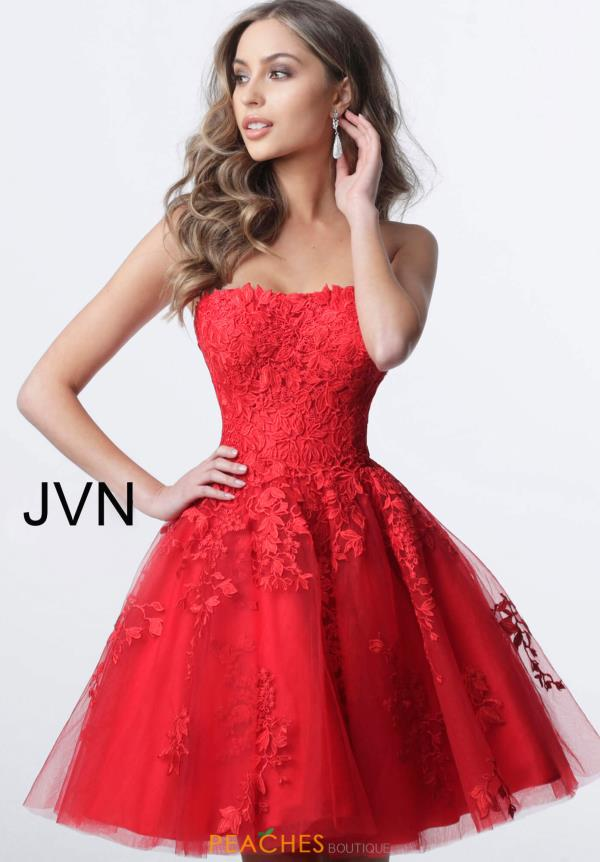 JVN by Jovani A Line Applique Dress JVN1830