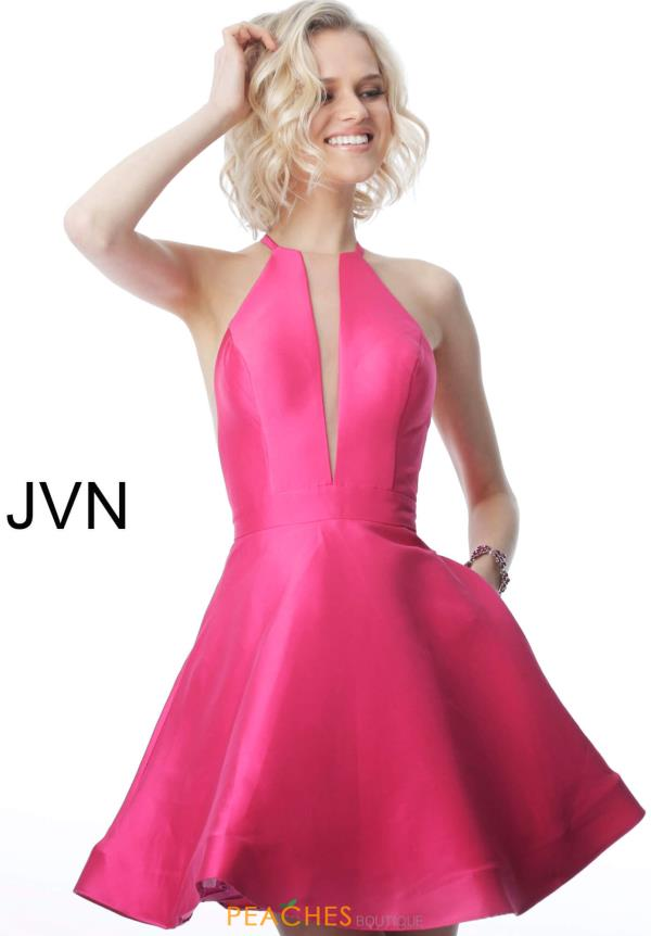 JVN by Jovani High Neckline Taffeta Dress JVN1841
