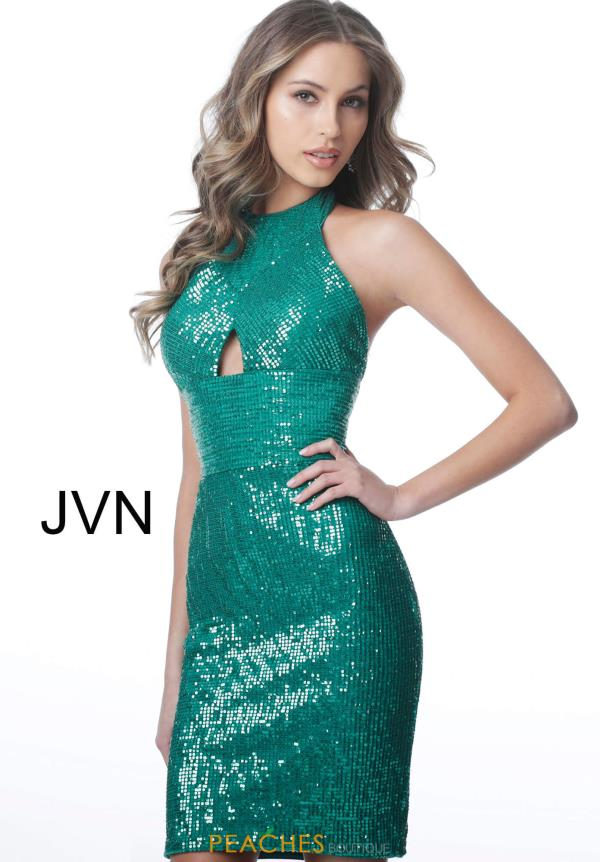 JVN by Jovani High Neckline Sequins Dress JVN2064