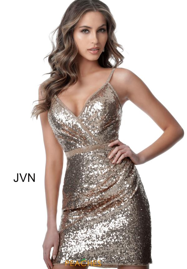 JVN by Jovani Fully Beaded Fitted Dress JVN2091
