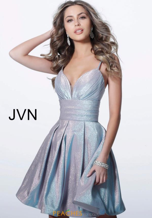 JVN by Jovani V-Neck Short Dress JVN2093