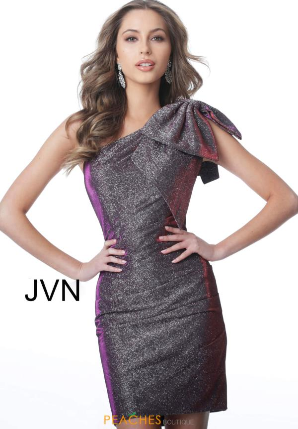 JVN by Jovani Single Shoulder Glitter Dress JVN2132