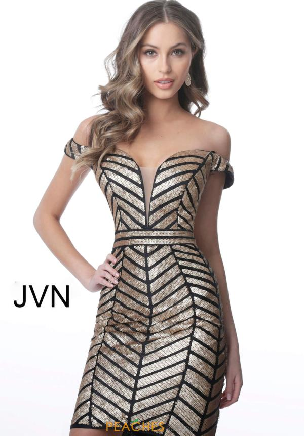 JVN by Jovani Cap Sleeve Fitted Dress JVN2247
