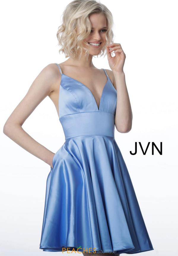 JVN by Jovani A Line Satin Dress JVN2278